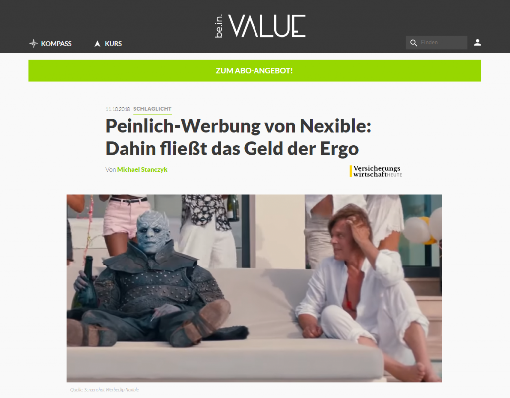 be.in.value Nachtkönig nexible